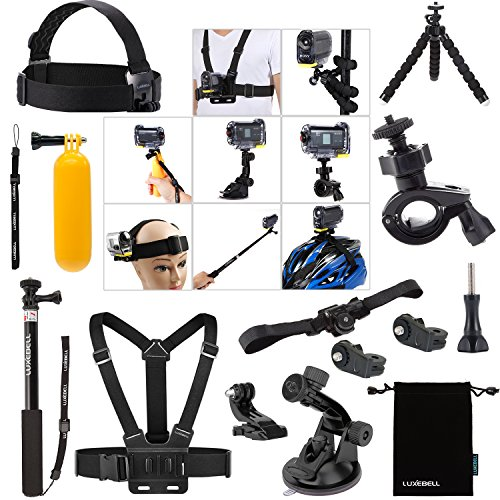 Luxebell-Accessories-Bundle-Kit-for-Sony-Action-Camera-Hdr-AS15-AS20-AS30v-AS50-AS100v-AS200v-HDR-az1-Mini-Fdr-x1000v-14-in-1