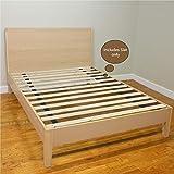 Mattress Solution 1-Inch Standard Mattress Support Wooden Bunkie Board/Slats, FullSize, Beige