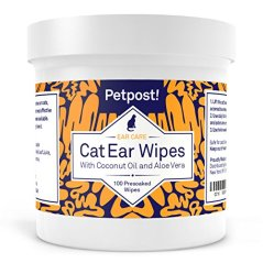 Petpost-Cat-Ear-Cleaner-Wipes-100-Ultra-Soft-Cotton-Pads-in-Coconut-Oil-Treatment-Cat-Ear-Mites-Cat-Ear-Infections