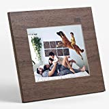 """Aura Digital Photo Frame - 9.7"""" HD Display with 2048x1536 Resolution - Oprah's Favorite Things List 2018 - Unlimited Cloud Storage & Sharing - Wood Finish"""