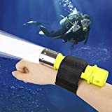 BESTSUN 1800Lm Professional Diving Flashlight Super Bright CREE T6 LED AAA/18650 Diving Swimming Light Waterproof Underwater Diver Submarine Torch Scuba Safety Lights Dive Lamp (Battery not inlcuded)