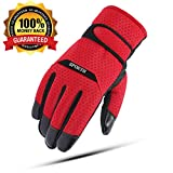 DuoTang Winter Waterproof Ski Gloves Men&Women Skiing Gloves Windproof Warm Snow Thinsulate Gloves Cycling,Riding,Running,Motorcycle Hiking Mountaineering Skiing,Outdoor Sports Free Size(Red)