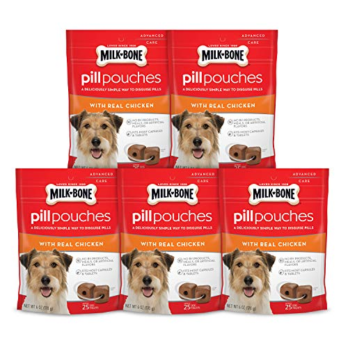 Milk-Bone-Pill-Pouches-With-Real-Chicken-Dog-Treats-Pack-Of-5