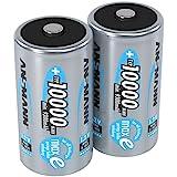 Ansmann 10000 mAh - Mono/D / HR20 - Batería/Pila recargable (Nickel–Metal Hydride (NiMH), 1.2, 33 x 61.5, D)
