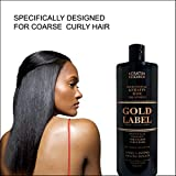 Gold Label Professional Brazilian Keratin Blowout Hair Treatment Super Enhanced Formula Specifically Designed for Coarse, Curly, Black, African, Dominican, and Brazilian Hair Types 240ml