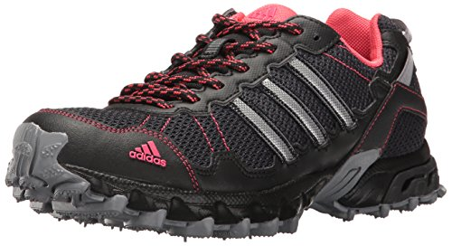 adidas Women's Rockadia Trail W Running Shoe, Grey/Black/Pink, 7 M US