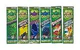 Juicy Jay Flavors Variety Pack Hemp Wraps (6 Packs, 2 Wraps Per Pack) Total 12 Wraps with ES Scoop Card