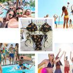 CheChury 2020 Costume da Bagno Donna Due Pezzi Stampa a Girasole Bikini Set Push-Up Imbottito da Bagno Sexy Coordinati…