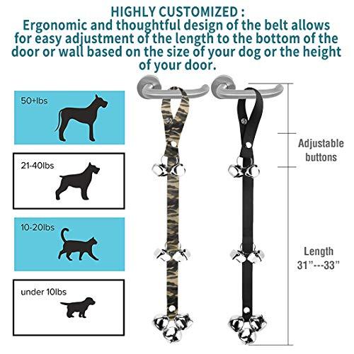 2 Pack Dog Doorbells Premium Quality Training Potty Great Dog Bells Adjustable Door Bell Dog Bells for Potty Training Your Puppy The Easy Way - Premium Quality - 7 Extra Large Loud 1.4 DoorBells 7