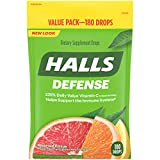 Halls Defense Citrus Vitamin C Drops - 180 Drops (1 bag of 180 drops)