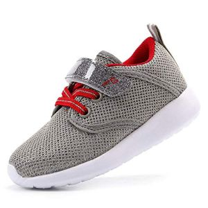 EIGHT KM Boys and Girls Toddler Kids Lightweight Breathable Woven Fabric Velcro Sneakers School Shoes 2019 Thanksgiving Grey Size: 9 Toddler 51eemVl8QWL