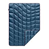 Rumpl The Down Blanket | Outdoor Down Camping Blanket for Traveling, Picnics, Beach Trips, Concerts | Deepwater Blue, 1-Person