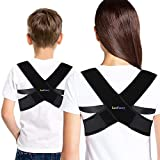 Back Posture Corrector Brace for Women Kids, LotFancy Adjustable Clavicle Brace Support for Orthopedic Kyphosis Bad Posture, Small (30'-36' in Chest Circumference)