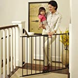 North States 47.85' Easy Swing & Lock Baby Gate: Ideal for Standard or Wider stairways, Swings to self-Lock. Hardware Mount (mounts Included). Fits 28.68'-47.85' Wide (31' Tall, Bronze)