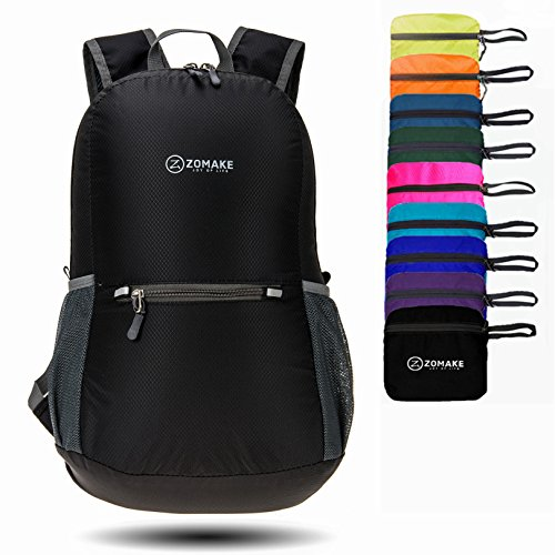 zomake ultra lightweight packable backpack water resistant hiking daypack small backpack handy. Black Bedroom Furniture Sets. Home Design Ideas