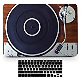 Bizcustom MacBook Pro13 2016-2018 Vintage Wood Music Player Design Paint Hard Rubberized Case and Black Keyboard Cover for MacBook Pro 13 w./Out Touch bar ID Model A1706/A1708/A1989