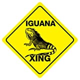 Iguana XING Funny Novelty Crossing Sign