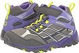 Merrell Kids' Unisex M-Moab Fst Mid A/C Wtrpf Hiking Shoe, Grey/Purple, 3.5 Medium US Big Kid