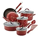 Rachael Ray 16339 Cookware Set, 12-Piece, Cranberry Red