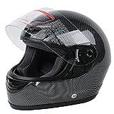 XFMT DOT Adult Carbon Fiber Flip Up Full Face Motorcycle Helmet Small Size