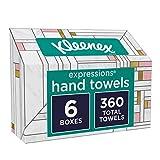 Kleenex Expressions Hand Towels, 6 Boxes, 60 Towels Per Box