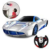 Remote Control Car, SHARKOOL 2019 Newest Wall Climbing Car Dual Mode 360° Rotating Stunt High Speed Rechargeable Race Toy Cars with Led Lights Best Gifts for All Adults & Kids, Gray