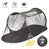 Dimples Excel Single Instant Pop Up Mosquito Net Automatic Self-expanding Tent for Outdoor, Beach, Hiking, Traveling, Backyard, Backpacking (Automatic tent - army green)