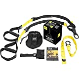 TRX ALL-IN-ONE Suspension Training System: Full Body Workouts for your Home Gym, Travel, and Outdoors | Includes Indoor & Outdoor Anchors, Workout Guide and Video Downloads