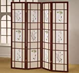 Product review for ORE International R5441-4 Four Panel Shoji Screen Cherry Finish