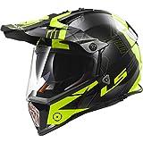 LS2 Helmets Pioneer Trigger Adventure Off Road Motorcycle Helmet with Sunshield (Yellow, X-Large)