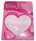 Women's Bride Hipster Lingerie 3-Pack Bridal Shower Bachelorette Wedding Gift - Also in Plus Sizes