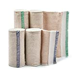 Premium Elastic Bandage Wrap Compression Roll, Includes Hook and Loop Closure, Set of 4 Pack FDA Approved, Two Rolls of Each Size 4 Inch x 4.6 Meter & 6 Inch x 4.6 Metre Polyester Cotton.