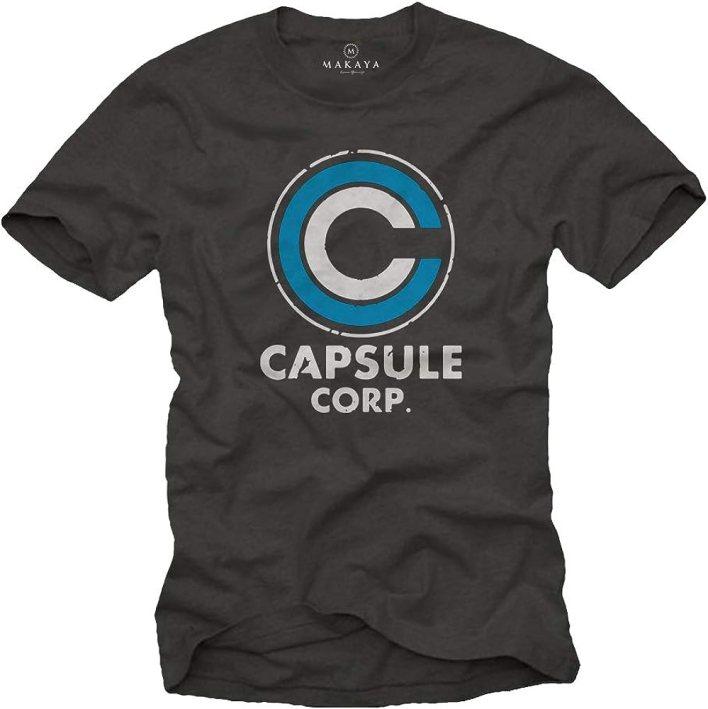 MAKAYA Camiseta para Hombre - Capsule Corp Goku Anime Manga