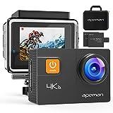 APEMAN 4K Action Camera WiFi 20MP Waterproof Underwater Cam Ultra 170 Angel 2 Inch LCD Display /2 Rechargeable Batteries/30M Waterproof Case/Carrying Bag/Full Accessories Kits