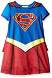 DC Comics Supergirl Short Sleeve Pajama with Cape, Blue/Red, 6/6X