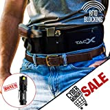 Belly Band Holster for Active Concealed Carry | IWB/OWB Pistol Belt | RFID Block Water Proof Zipper Gear Pocket | Spare Mag Pouch | Running, Hiking, Jogging, Travel (Right - Large (44'))