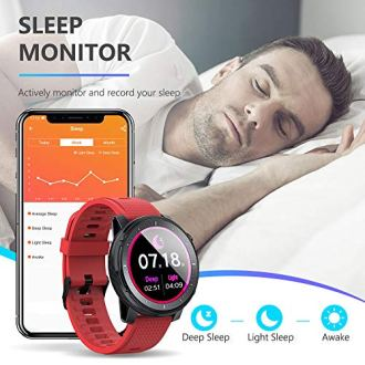 Smart-WatchHealth-and-Fitness-Smartwatch-with-Heart-Rate-Blood-Pressure-SpO2-Monitor-Sleep-TrackerBuletooth50IP68-Waterproof-Smart-Watch-for-Android-iOS-Phone-Red