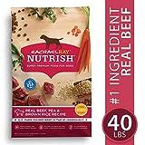 Rachael Ray Nutrish Premium Natural Dry Dog Food, Real Beef, Pea, & Brown Rice Recipe, 40 Lbs