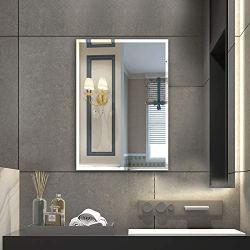 Beauty4U Rectangular Frameless Wall Mirrors-24 x 36″ Frameless Beveled HD Bathroom Mirror Vanity Make Up for Wall Décor