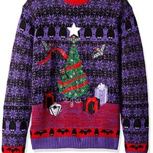 Blizzard Bay Men's Tinsel Bats Ugly Christmas Sweater
