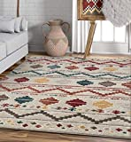 Well Woven Moroccan Stripes Area Rug Multicolor 5x7 (5'3' x7'3)
