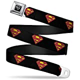 "Buckle-Down Seatbelt Belt - Superman Shield Black - 1.5"" Wide - 32-52 Inches in Length"