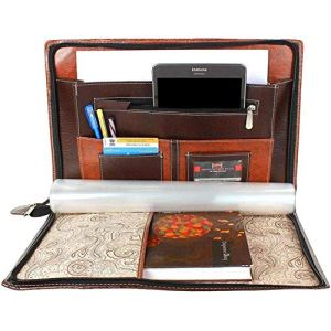 GreatDio® Leatherette Material Professional File Folders for Certificates, Documents Holder with 20 Leafs (Size-B4, Color: Mix Brown)