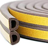 Door Gasket Window Rubber Seal Anti-collision Weather Stripping Self Adhesive Foam for Cracks and Gaps, 3/8-Inch x 1/4-Inch x 10-Feet, 4 Seals