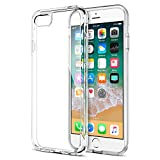 iPhone 8 Plus 7 Plus Case, Trianium [Clarium Series] Protective Cover for Apple iPhone 7Plus / iPhone 8 Plus Case [Shock Absorption] TPU Bumper Cushion+Scratch Resistant Hybrid Rigid Clear Back-Clear