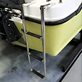 3 Step Telescopic Marine Drop Boat Ladder Swim Step - Stainless steel
