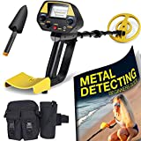 Ultimate Metal Detector for Adults - Waterproof Pro Detectors with Pinpointer for Kids - High Accuracy Professional Handheld Relic Hunter with Arm Support & Folding Shovel - Perfect Present