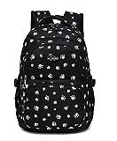 Fanci Lovely Dog Paw Prints Elementary Middle School Backpack Bookbag for Teen Girls Waterproof High School Bag