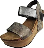 Pierre Dumas Womens Hester-1 Wedge Sandals (9 M US, Rose Gold)