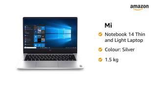 Mi-Notebook-14-Intel-Core-i5-10210U-10th-Gen-Thin-and-Light-Laptop8GB512GB-SSDWindows-10Intel-UHD-GraphicsSilver15Kg-XMA1901-FAWebcam